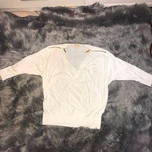 Michael Kors White Top Size Medium